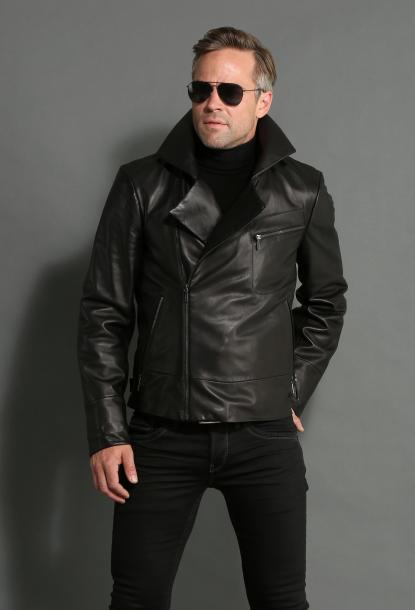 veste cuir homme